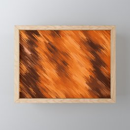 brown orange and dark brown painting texture abstract background Framed Mini Art Print