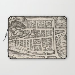 Vintage Map of Edinburgh Scotland (1581) Laptop Sleeve