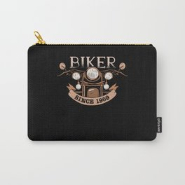 Biker 1969 Born Birthday Gift Motorcycle Carry-All Pouch