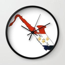 New Orleans Jaz Flag Wall Clock