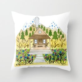 Welcome Cabin Throw Pillow