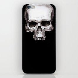 Skull on Black iPhone Skin