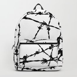 Black and White Barbed Wire Backpack