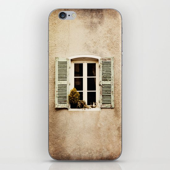 Window with Shutters and Teapot iPhone & iPod Skin