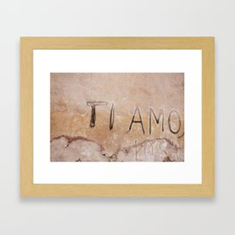 Ti Amo - I love you - Graffiti  Framed Art Print