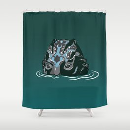 The Shape of Water_The Fishman Monster Shower Curtain