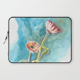 Blooms on Turquoise Laptop Sleeve