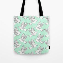 Whatsapp's Carrier Pigeon Tote Bag