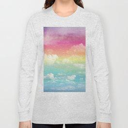 Clouds in a Rainbow Unicorn Sky Long Sleeve T-shirt