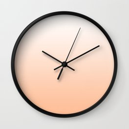 Peach Ombre Wall Clock