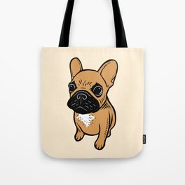 Fawn Frenchie Puppy Tote Bag