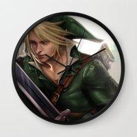 hyrule Wall Clocks featuring Link: Hyrule Warrior by KlsteeleArt