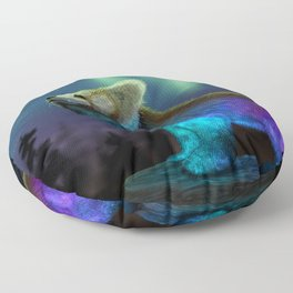 Stargazing - Cosmic Red Panda Floor Pillow