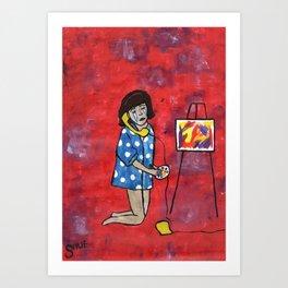 Tears of the Artist Art Print