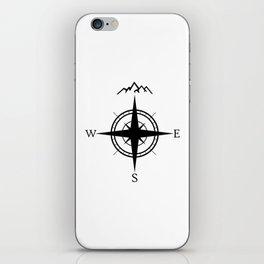 Mountain Compass iPhone Skin