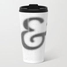 Halftone Ampersand Serif Metal Travel Mug