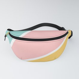 Tropical summer pastel pink turquoise yellow color block geometric pattern Fanny Pack