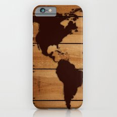 map world wood Slim Case iPhone 6s