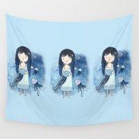 medusa Wall Tapestries featuring Medusa by Kristina Sabaite
