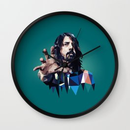 Learn to Fly - Dave Grohl print Wall Clock