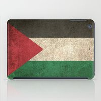 palestine iPad Cases featuring Old and Worn Distressed Vintage Flag of Palestine by Jeff Bartels