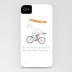 seagulls on bicycles Slim Case iPhone (4, 4s)