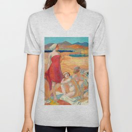Maurice Denis  - Odysseus Awakening - Digital Remastered Edition Unisex V-Neck