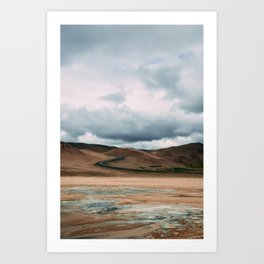 ICELAND ROADS Art Print