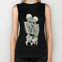 Valentine's Day: Skeleton Kiss Biker Tank