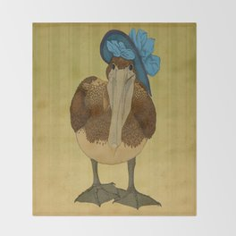 Plumpkin Ploshkin Pelican Jill Throw Blanket