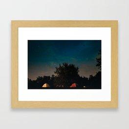 Mountain Stars Framed Art Print