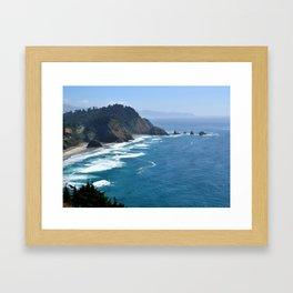 Cape Meares Coast Framed Art Print