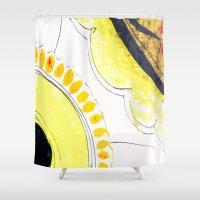 kitchen Shower Curtains featuring Kitchen Flowers  by Ethna Gillespie