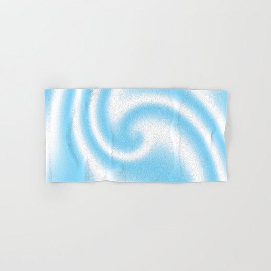 Blue Raspberry Ribbon Candy Fractal Hand & Bath Towel