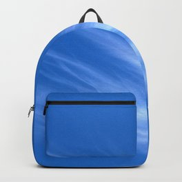 Ivory Strands of Clouds in Bright Blue Sky Backpack