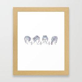 Aphrodite Chain Framed Art Print