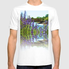 Reflection White Mens Fitted Tee MEDIUM