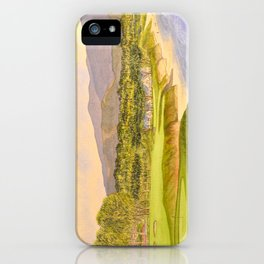 Pebble Beach Golf Course Holes 9 and 10 iPhone Case