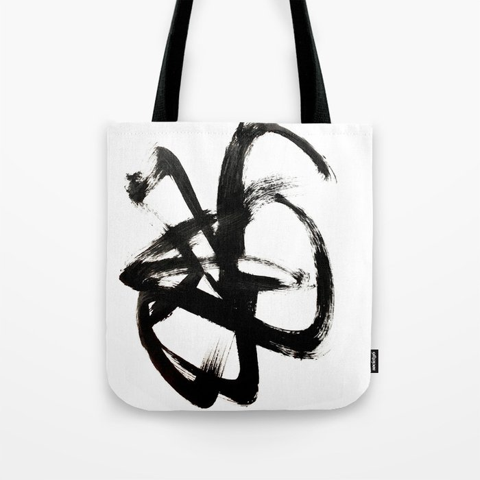 86b62d52a2 Brushstroke 4 - a simple black and white ink design Tote Bag by ...