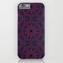 Red Blue Kaleidoscope iPhone Case
