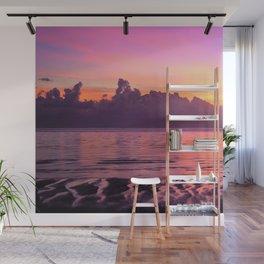 Spectacular South Pacific Sunset Near Huahini Island, Tahiti Wall Mural