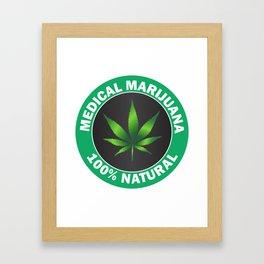 Medical Marijuana Framed Art Print