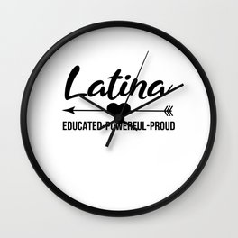 Latina Outfit Wall Clock