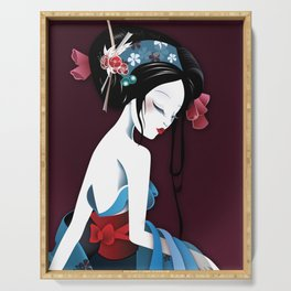 Geisha la blanche Serving Tray