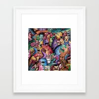 community Framed Art Prints featuring Colourful Community by Salih Gonenli