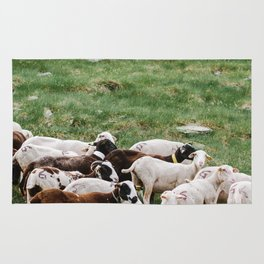 Goat Herd in the Pyrénées Mountains Rug