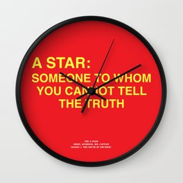 Howlin' Mad Murdock's 'A Star...' shirt Wall Clock