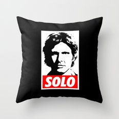 Obey Han Solo (solo text version) - Star Wars Throw Pillow