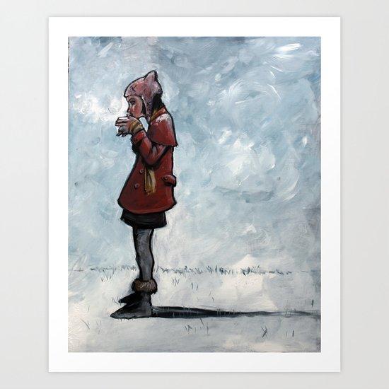 """warm drink/cold day"" Art Print"