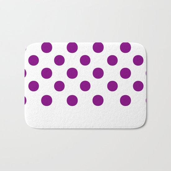 Polka Dots (Purple/White) Bath Mat